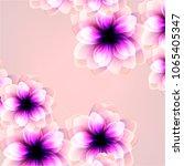 invitation backgrounds flowers | Shutterstock .eps vector #1065405347