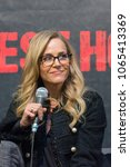 Small photo of DORTMUND, GERMANY - APRIL 8: Actress Julie Benz (Dexter, SAW, Buffy, Angel, Rambo, Punisher) at Weekend of Hell, a two day (April 7-8 2018) horror-themed fan convention.