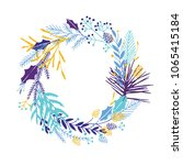 cute and elegant vector floral... | Shutterstock .eps vector #1065415184