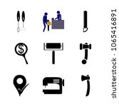 icon instruments and tools with ... | Shutterstock .eps vector #1065416891