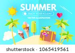 summer background with sweet... | Shutterstock .eps vector #1065419561
