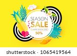 summer sale layout design... | Shutterstock .eps vector #1065419564