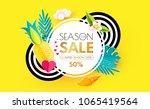 summer sale layout design... | Shutterstock .eps vector #1065419564