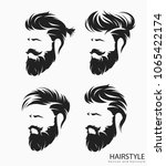 set of mens hairstyle with... | Shutterstock .eps vector #1065422174