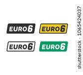 euro 6 symbol | Shutterstock .eps vector #1065424037