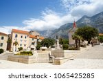 makarska croatia 29 june 2017 ... | Shutterstock . vector #1065425285