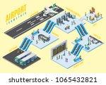 isometric airport halls concept ... | Shutterstock .eps vector #1065432821