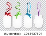 vector set of blank gift cards... | Shutterstock .eps vector #1065437504