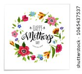 elegant lettering happy mothers ... | Shutterstock .eps vector #1065437537
