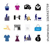 icon shopping tools with blue... | Shutterstock .eps vector #1065437759
