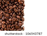 coffee beans on the white... | Shutterstock . vector #106543787