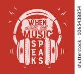 music tee graphic design ... | Shutterstock .eps vector #1065438854