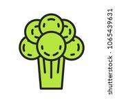 broccoli vector outline... | Shutterstock .eps vector #1065439631