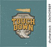 classic college t shirt  shield.... | Shutterstock .eps vector #1065439889