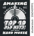 hard music poster. concert  tee ... | Shutterstock .eps vector #1065439991