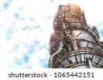close up oil and gas refinery... | Shutterstock . vector #1065442151