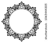 decorative frame. elegant... | Shutterstock .eps vector #1065444305