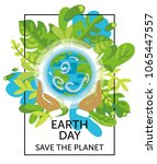 card for earth day with our... | Shutterstock .eps vector #1065447557