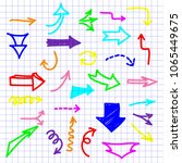 hand drawn arrows set isolated... | Shutterstock .eps vector #1065449675