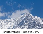 view on snowy dhauladhar peak... | Shutterstock . vector #1065450197