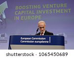 Small photo of European Investment Fund CEO, Pier Luigi Gilibert attends a news conference on the launch of VentureEU, a Pan-European Venture Capital Funds-of-Funds programme in Brussels, Belgium on Apr. 10,2018