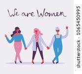 we are women. feminine concept... | Shutterstock .eps vector #1065450995