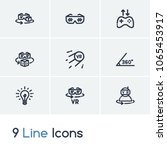 augmented reality icon set and...