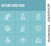 healthcare icon set and... | Shutterstock .eps vector #1065454139