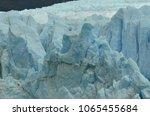 perito moreno glaciar detail... | Shutterstock . vector #1065455684