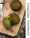 grilled veggie hamburger with... | Shutterstock . vector #1065459671