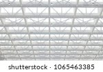 long span roof structure with... | Shutterstock . vector #1065463385
