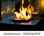 modern bio fireplot fireplace... | Shutterstock . vector #1065464294