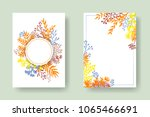 vector invitation cards with... | Shutterstock .eps vector #1065466691