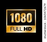 full hd symbol  high definition ...   Shutterstock .eps vector #1065472679