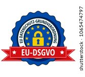 eu dsgvo label illustration | Shutterstock .eps vector #1065474797