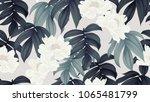 botanical seamless pattern ... | Shutterstock .eps vector #1065481799