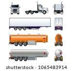 vector realistic semitruck mock ...   Shutterstock .eps vector #1065483914