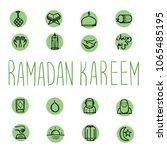 ramadan icon. ramadan karem...   Shutterstock .eps vector #1065485195