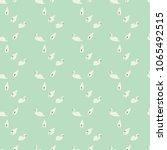 swan seamless pattern on mint... | Shutterstock .eps vector #1065492515