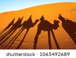 view of caravan traveling and... | Shutterstock . vector #1065492689