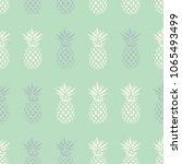 pineapple seamless pattern on... | Shutterstock .eps vector #1065493499