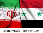 iran and syria flag together | Shutterstock . vector #1065493625