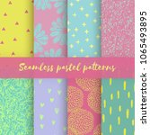 set of vector backgrounds with... | Shutterstock .eps vector #1065493895