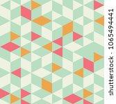 geometric triangle seamless... | Shutterstock .eps vector #1065494441