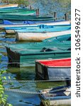 row of old vintage colorful... | Shutterstock . vector #1065496277