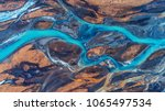 aerial view and top view river... | Shutterstock . vector #1065497534