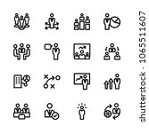 icons management with speech ... | Shutterstock .eps vector #1065511607