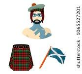 country scotland cartoon icons... | Shutterstock .eps vector #1065527201