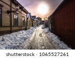 frozen ground at the historic... | Shutterstock . vector #1065527261
