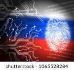 russia flag and fingerprint... | Shutterstock . vector #1065528284